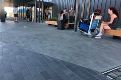 Bluestone Paving laid outside the New Terminal