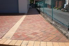 autumn-red-50mm clay pavers driveway